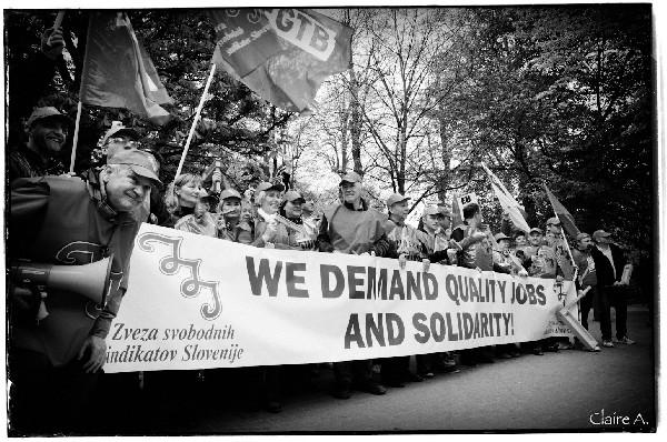 Manifestation Union des Syndicats Européens